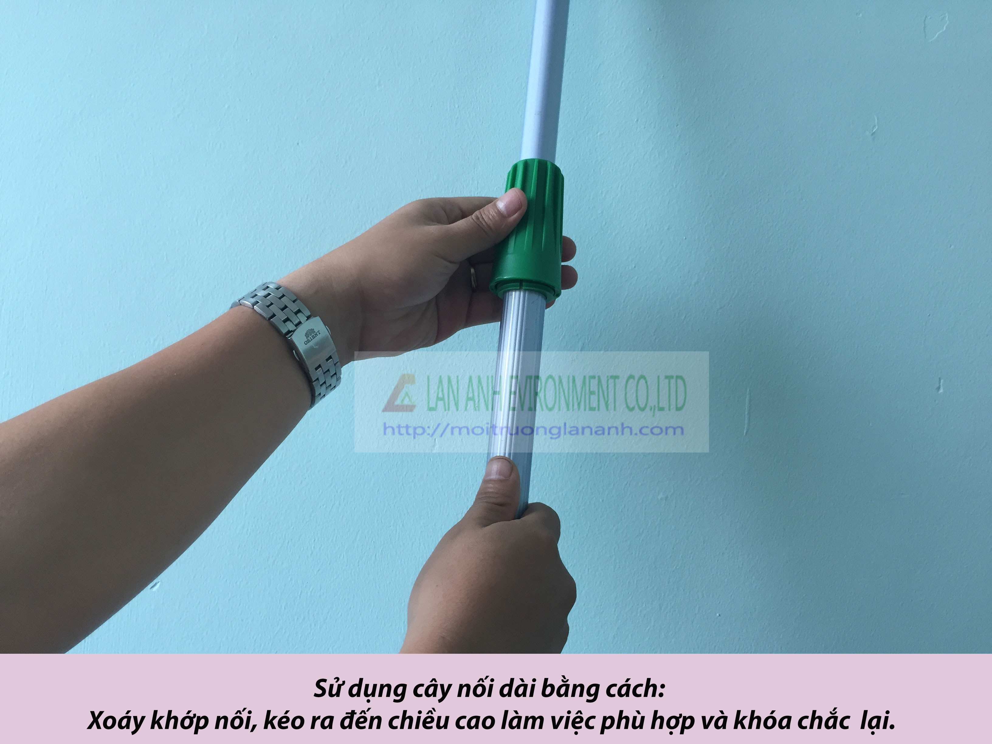 Cách sử dụng cây nối dài lau kính