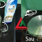 Làm sạch đáy nồi nấu